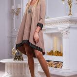 Легкое платье свободного покроя 914