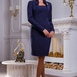 Элегантное красивое платье с интересным воротником 909