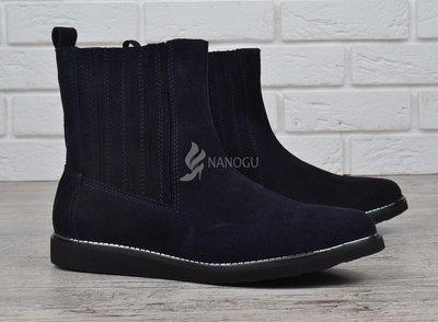 Ботинки женские замшевые синие челси завышенные Good shoes Украина ... 18d24aaa89121