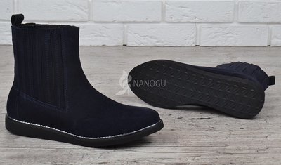 da5af65327ac Ботинки женские замшевые синие челси завышенные Good shoes Украина.  Previous Next