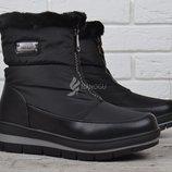 Дутики женские зимние сапоги на платформе Trend черные
