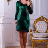 Стильное платье с велюра 903