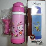 Детский термос с трубочкой- поилкой UNIQUE UN-1062, 350 мл