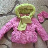 Куртка,курточка зимова,зимняя,осінь-зима 18міс,шарф,рукавиці,рукавички