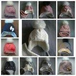 шапка зима 0..9р шапка зимняя для девочки Натуральний помпон