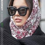 женский капор косынка на пуговицах в разных цветах Я 198