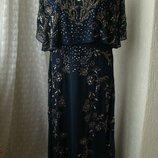 Платье вечернее в пол батал Lace&Beads р.54 7622
