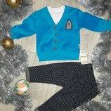 Вилюровый костюм с брендом на малышей.
