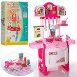 Игрушечная детская кухня Kitchen WD-А19-В19 с посудой и часами