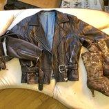 Кожаная курточка косуха XL