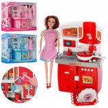 Мебель с куклой 28 см, SY-2058-63-68-5. Звук, свет, посуда