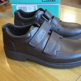 Кожаные туфли Clarks на липучках, Оригинал, Англия