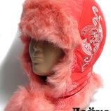 Качественная зимняя шапка, шапочка, ушанка Boobon на синтепоне на 3-5 лет
