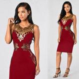 Коктейльное нарядное платье 3 цвета Новинка