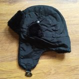 Зимняя шапка, черная, унисекс