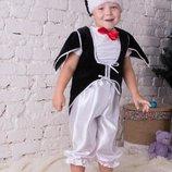 Карнавальный новогодний костюм пингвин Мушкетер зайчик белочка лисичка медведь пингвин гном снеговик