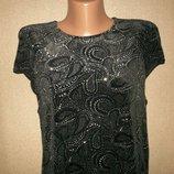 Велюровое платье с блестками River Island р-р12