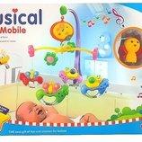 Мобиль на кроватку 6518 музыкальный, 5 видов