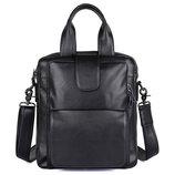 Сумка мужская портфель Классика черная из натуральной кожи