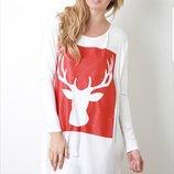 Новогоднее нарядное платье red lilly Америка туника длинный рукав реглан новый год