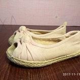 Туфли,текстильные балетки, лоферы,сандали размер 24, б/у