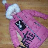 зима куртка парка для девочек