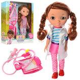 Лялька A278 набір лікаря стетоскоп, шприц, бейдж , муз., бат. таб. , 2 види, кор., 27,5-31-7 см.