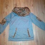 Теплый свитшот, реглан, свитер для девочки 3-4-5 л 104-110 см