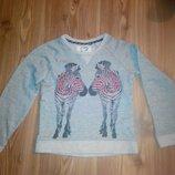 Теплый свитшот, реглан, свитер для девочки 7-8-9л 122-128-134 см