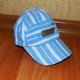 Стильная кепка, голубая с белым, 74, 80, 6-9-12 мес. Состояние новой