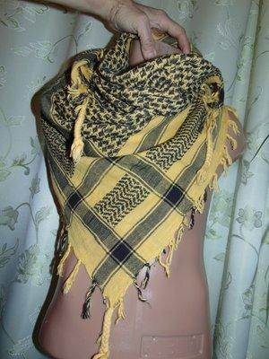 Стильная фирменная арафатка , шемаг, куфия, арабский платок, армейский шарф платок .Єгипет