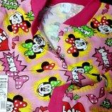 Тёплая пижама для девочки на 2 кнопках с Минни Маусом