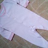 Хлопковый фирменный человечек слип поддева пижама