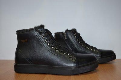 Кожаные мужские ботинки на молнии.