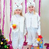 Карнавальный новогодний костюм зайчик белочка лисичка мишка пингвин гном снеговик