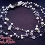Украшение в прическу для невесты диадема, веточка, шпильки, заколки, гребень by Cherry -Handmade