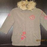 Куртка с вышивками Topolino зима-осень для девочки 98 рост