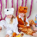 Новогодний карнавальный Костюм Медведь Белочка Снеговик Пингвин Мышка Кот Лисичка елочка дед мороз