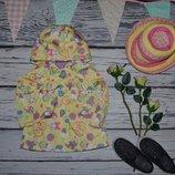 9 - 12 месяцев Фирменный яркий плащ пальто ветровка для девочки Минни Маус