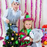 Карнавальный новогодний костюм Волк гном Белочка зайчик пират мышка медведь волк снеговик пингвин