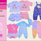 Много разной одежды Одежда для пупса Baby Born на вешалке, в пакете 22 28см