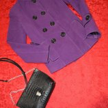Стильное двубортное пальто очень дешево размер с.актуально