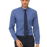 насыщенно-синяя мужская рубашка LC Waikiki в белый горошек