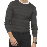 Мужской свитер насыщенно-темно-серого цвета LC Waikiki