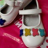Туфельки для девочки, кожаная стелька, 21-24р и 26 р-ры