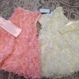 Платье нарядное Пушистая розочка