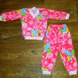 Пижама для девочки махровая на рост 68-74 см
