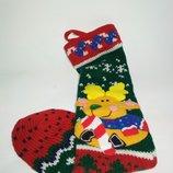 чулок для подарков сапог Декор новогодний носок новый год аксессуар