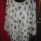 Новая женская блуза трикотажная на большой размер 30 наш62- 64