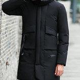 Мужская удлинненая зимняя куртка 2 цвета AL7870